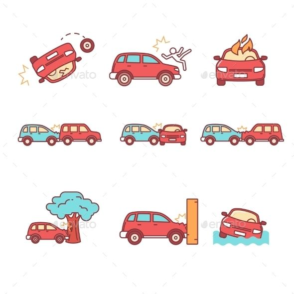 Car Crash And Accidents In 2021 Storyboard Ideas Web Icon Design Technology Icons