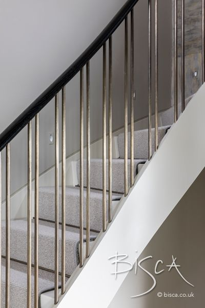 Best Curved Stair With Aged Bronze Balustrade Modern 400 x 300