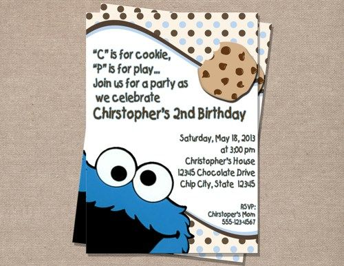 Cookie monster birthday invitation perfectfavors digital art on cookie monster birthday invitation perfectfavors digital art on artfire filmwisefo Gallery