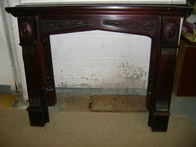 Teak Fireplace Surround In Cork