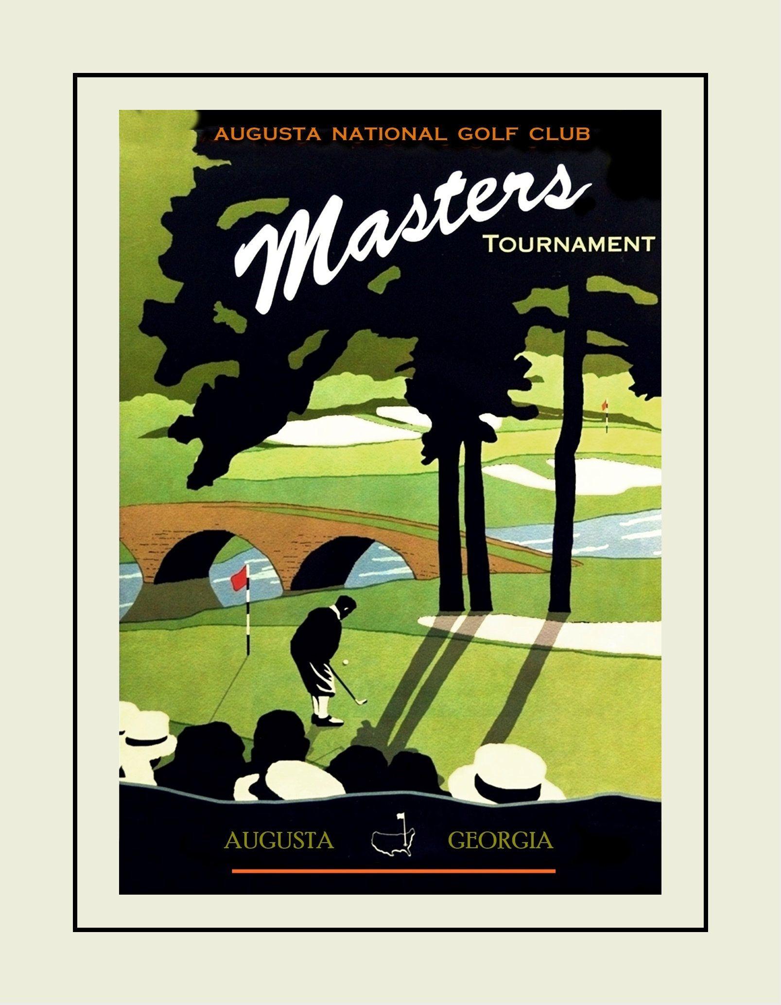 vintage golf illustration wall art