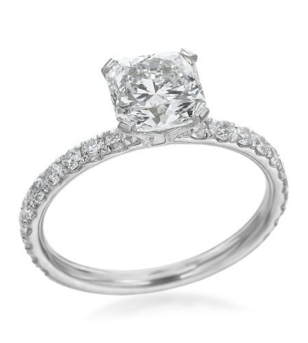 Hearts On Fire - Enrichment Collection Platinum Pave Setting For 1.25ct