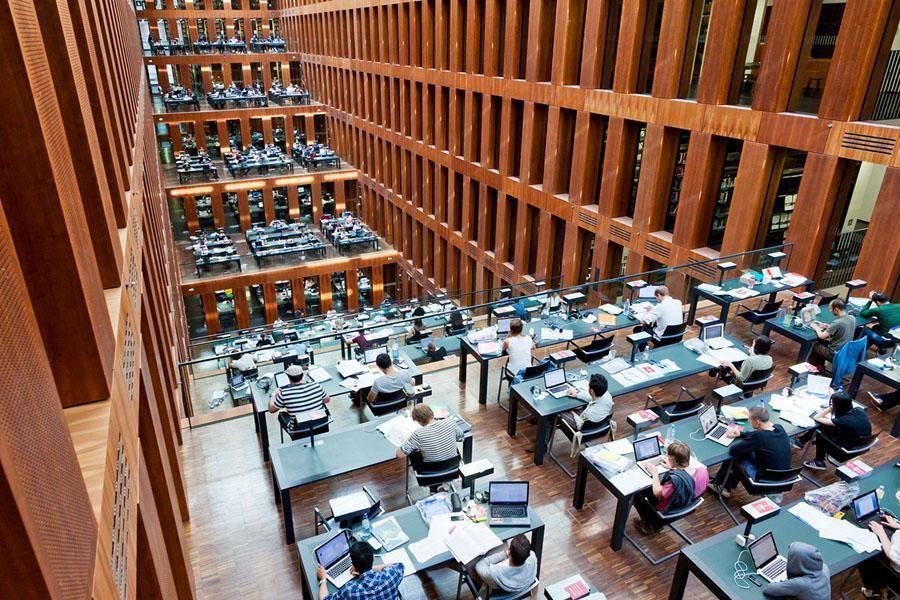 Home Interior Design Humboldt University Library In Berlin 2014