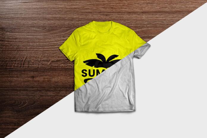 Download Free Yellow T Shirt Mockup Psd Template Shirt Mockup Yellow T Shirt Tshirt Mockup