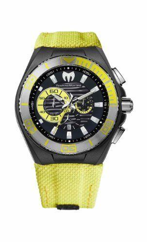 TechnoMarine Men's 112016 Cruise Locker Nylon Strap Watch TechnoMarine. $575.00. Nylon strap. Water-resistant to 200 M (660 feet). Chronograph. Extra yellow rave strap and black silicone strap. Aluminum bezel