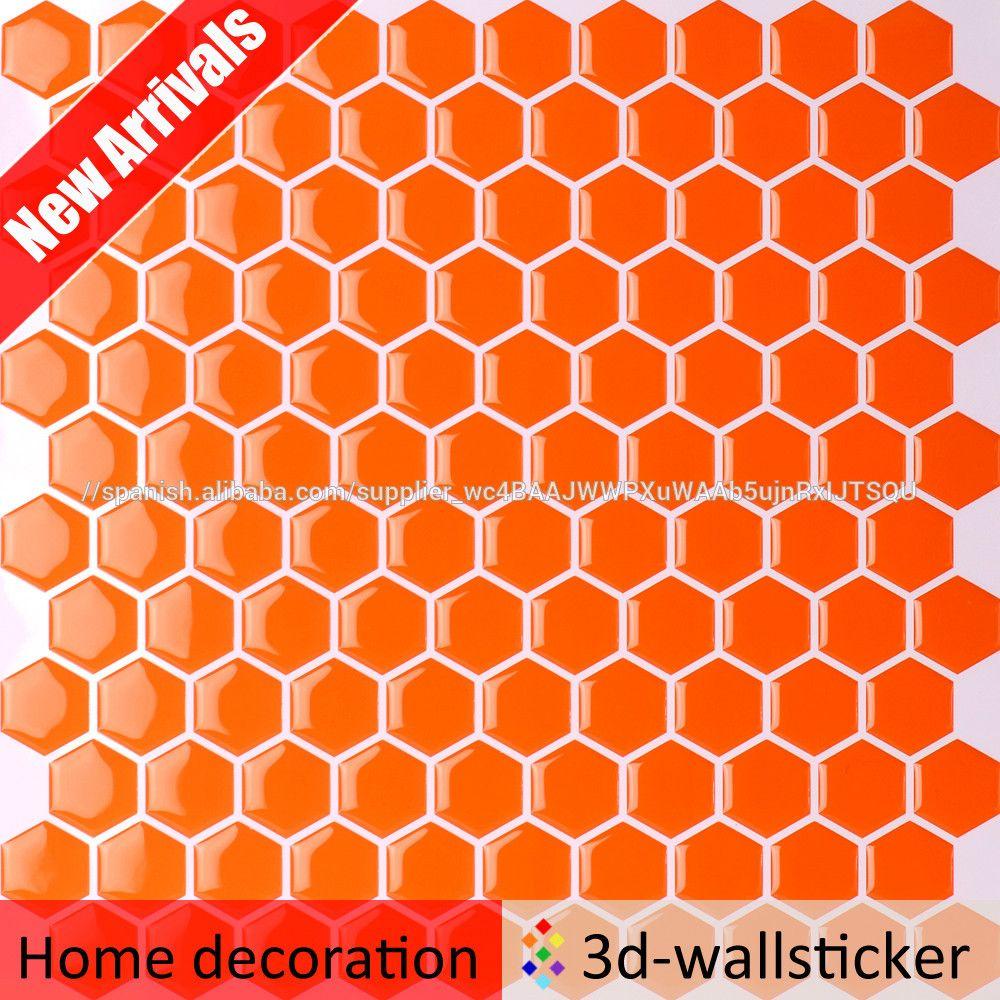 del hexágono mosaico diseño cáscara y del palillo backsplash ...