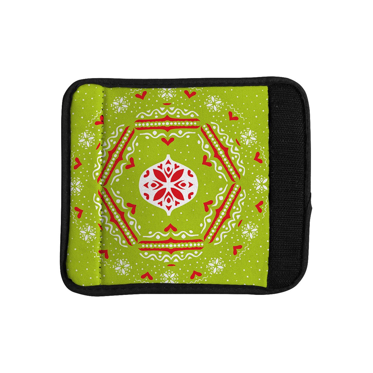 Kess InHouse Miranda Mol 'Snowjoy ' Red Luggage Handle Wrap