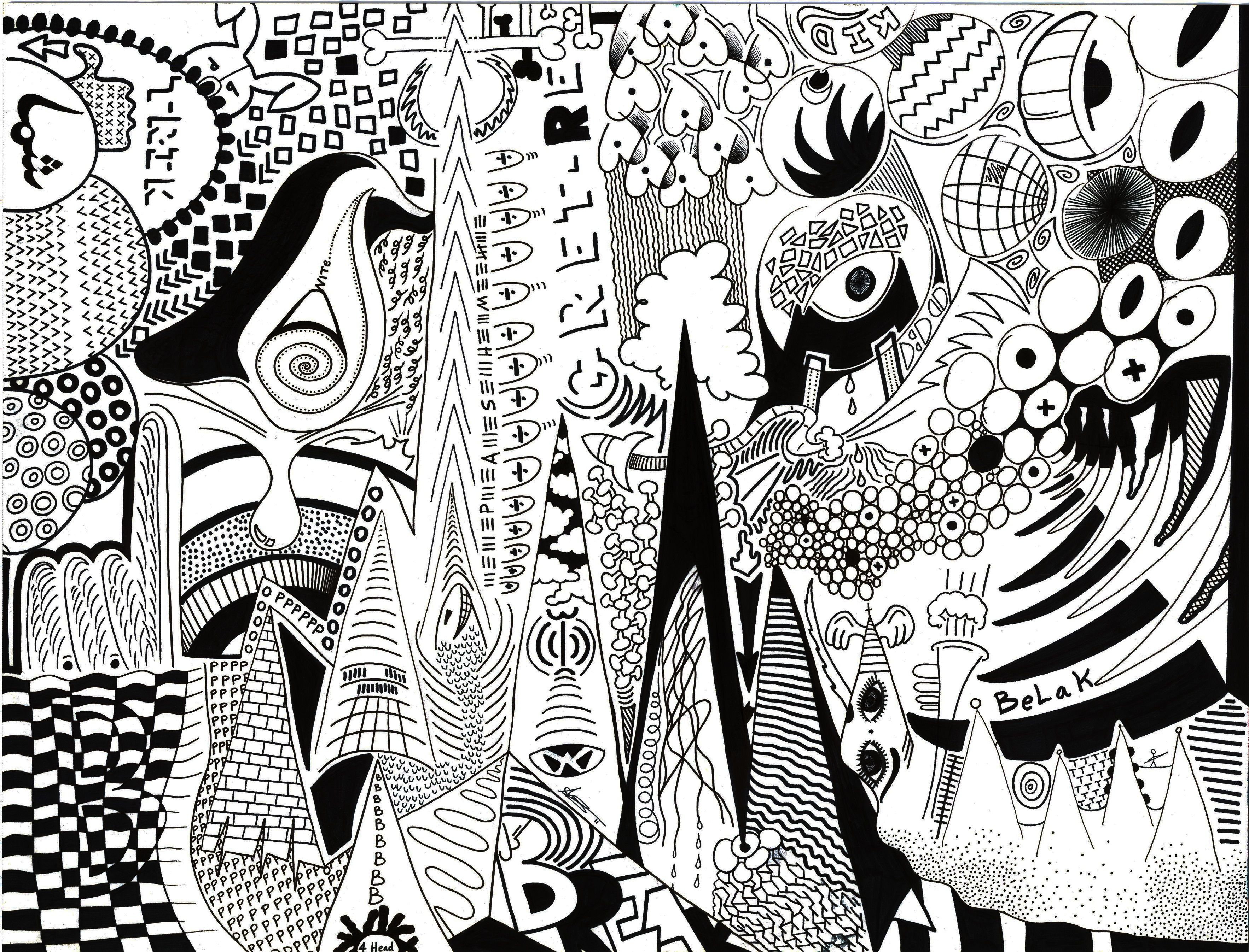 Black And White Marker Murals Google Search Marker Drawing