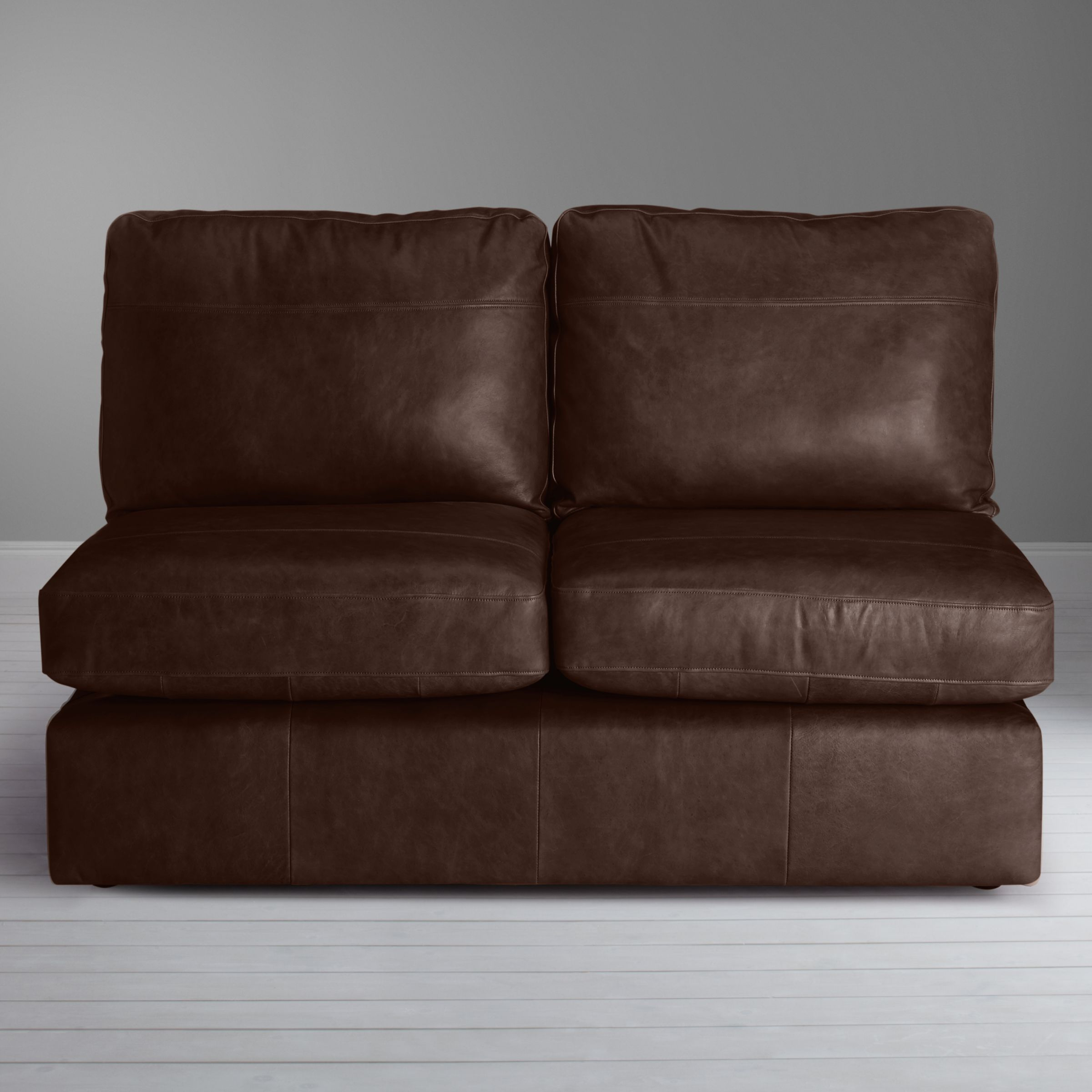 House By John Lewis Oliver Small 2 Seater Armless Leather Sofa Dark Leg Sofa House Love Seat