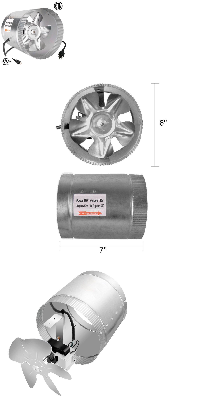 Details about iPower ETL Certified 6 Inch Booster Fan