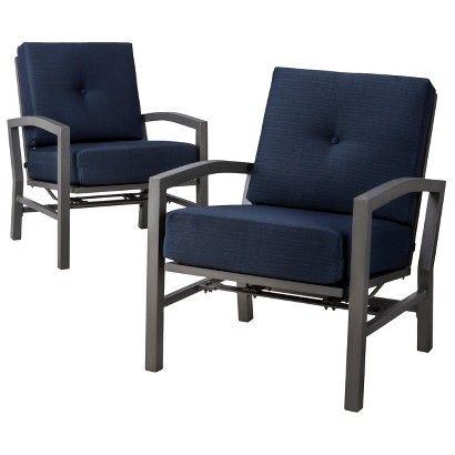Threshold™ Squier 2 Piece Metal Patio Motion Club Chair Set