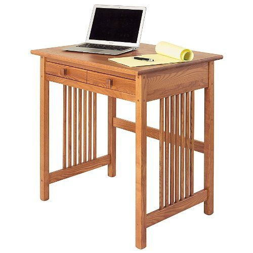 Manchester Wood Mission Compact Desk Golden Oak Solid Wood Desk Compact Desks Best Home Office Desk