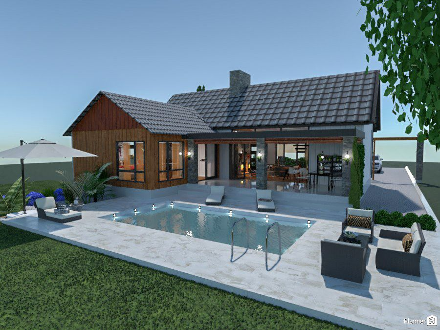 Use Planner 5d To Create Beautiful House And Interior Designs Like A Pro Architecture Design Render House Visualization House House Design House Dream House