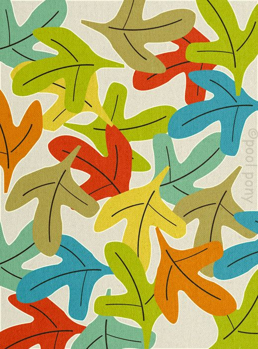 Forest Floor,  mid century design, art print, by Pool Pony, EXTRA LARGE
