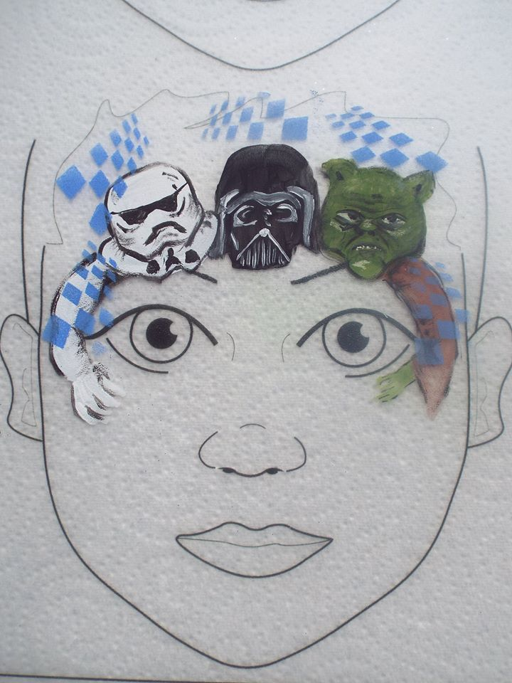 Star Wars Storm Trooper Dath Vader and Yoda