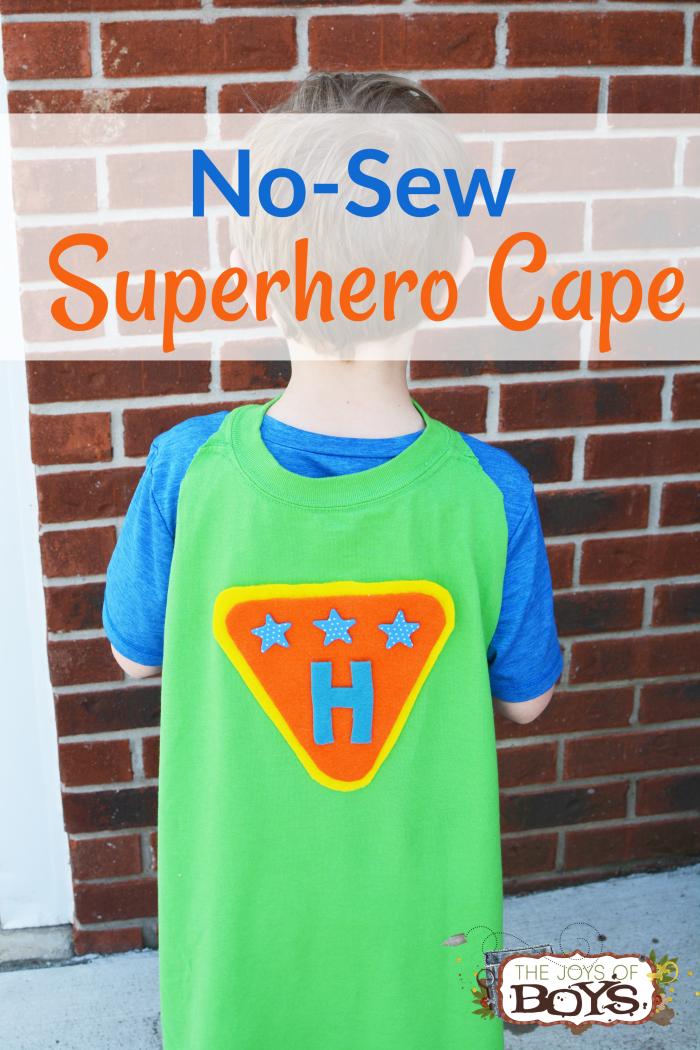 No-Sew Superhero Cape Made Out of a T-Shirt - Easy Superhero Craft