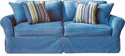 Cindy Crawford Home Beachside Denim Sofa :: Rooms To Go   Sofas