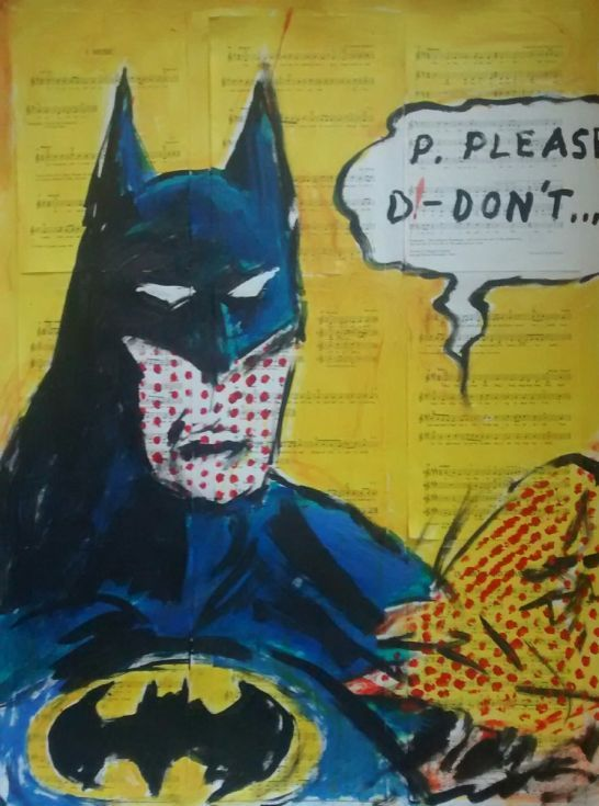 Buy Batman.. p please d don't.., Acrylic painting by Jack  O'Hara on Artfinder. Discover thousands of other original paintings, prints, sculptures and photography from independent artists.