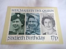 Royal Mail Post Card 60th Birthday Her Majesty The Queen Phq 91b