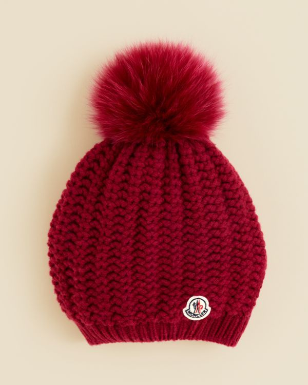 44820e4eaea Moncler Girls  Berretto Slouch Pompom Hat - Sizes S-l