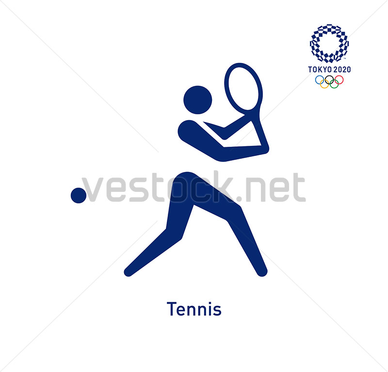 Tennis Pictogram Tokyo 2020 Olympics Pictograms Vector Vestock Tokyo 2020 2020 Olympics Tokyo