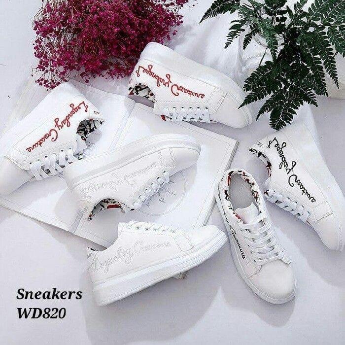Sepatu wanita Sneakers korea  WD820 Tinggi 4cm Berat 800gram 3 wrn Hitam bac3644e49
