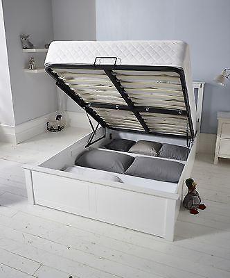 Elegant Wooden Ottoman Storage Bed 4FT6 Double In White & Elegant Wooden Ottoman Storage Bed 4FT6 Double In White | Pinterest ...