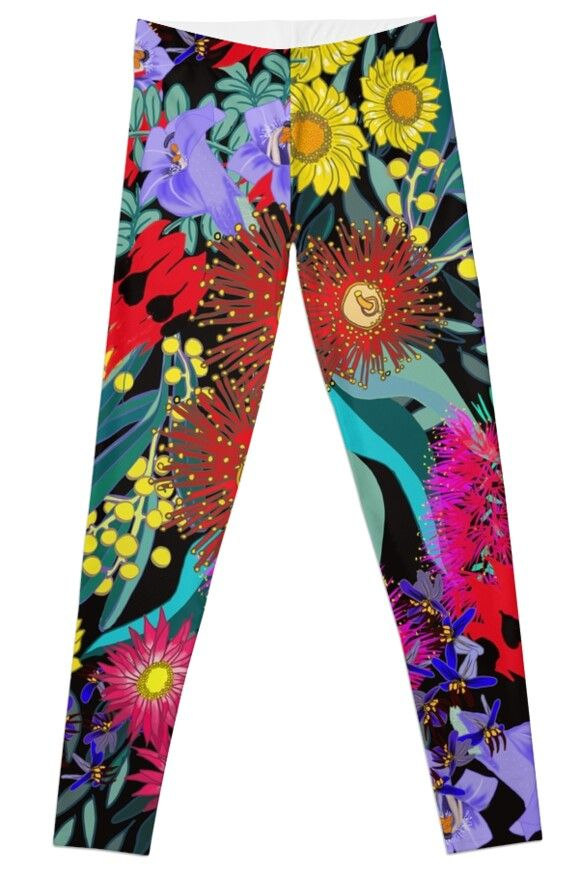 'iPad Art - Flora Abunda' Leggings by Georgie Sharp