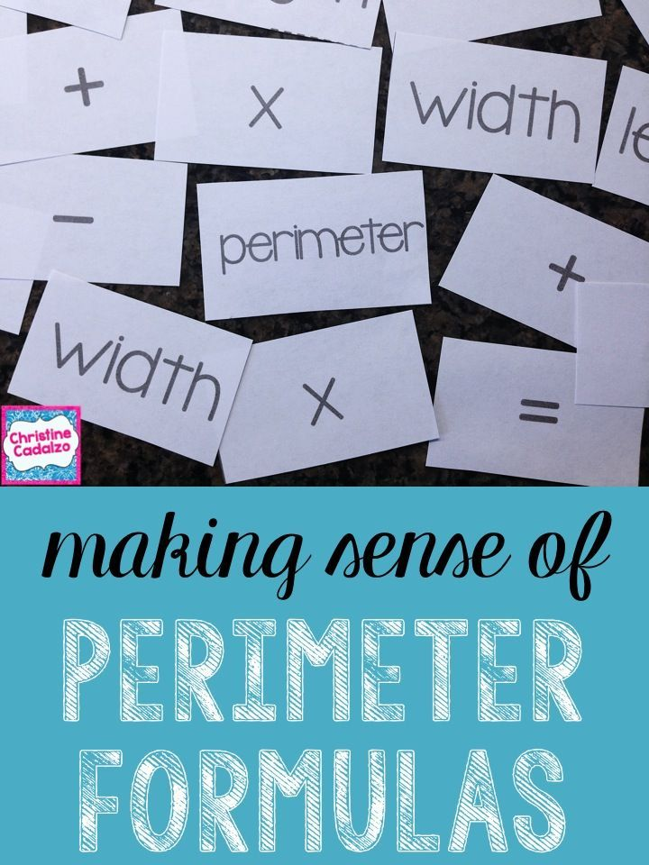 Math Unit: Formula for the Perimeter of a Rectangle | Math, Students ...