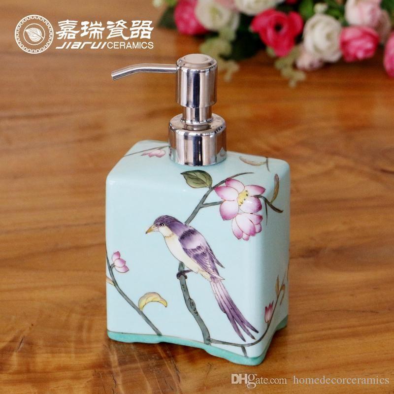 Modern Hand Soap Dispenser Porcelain Hotel Soap Dispenser Bottle