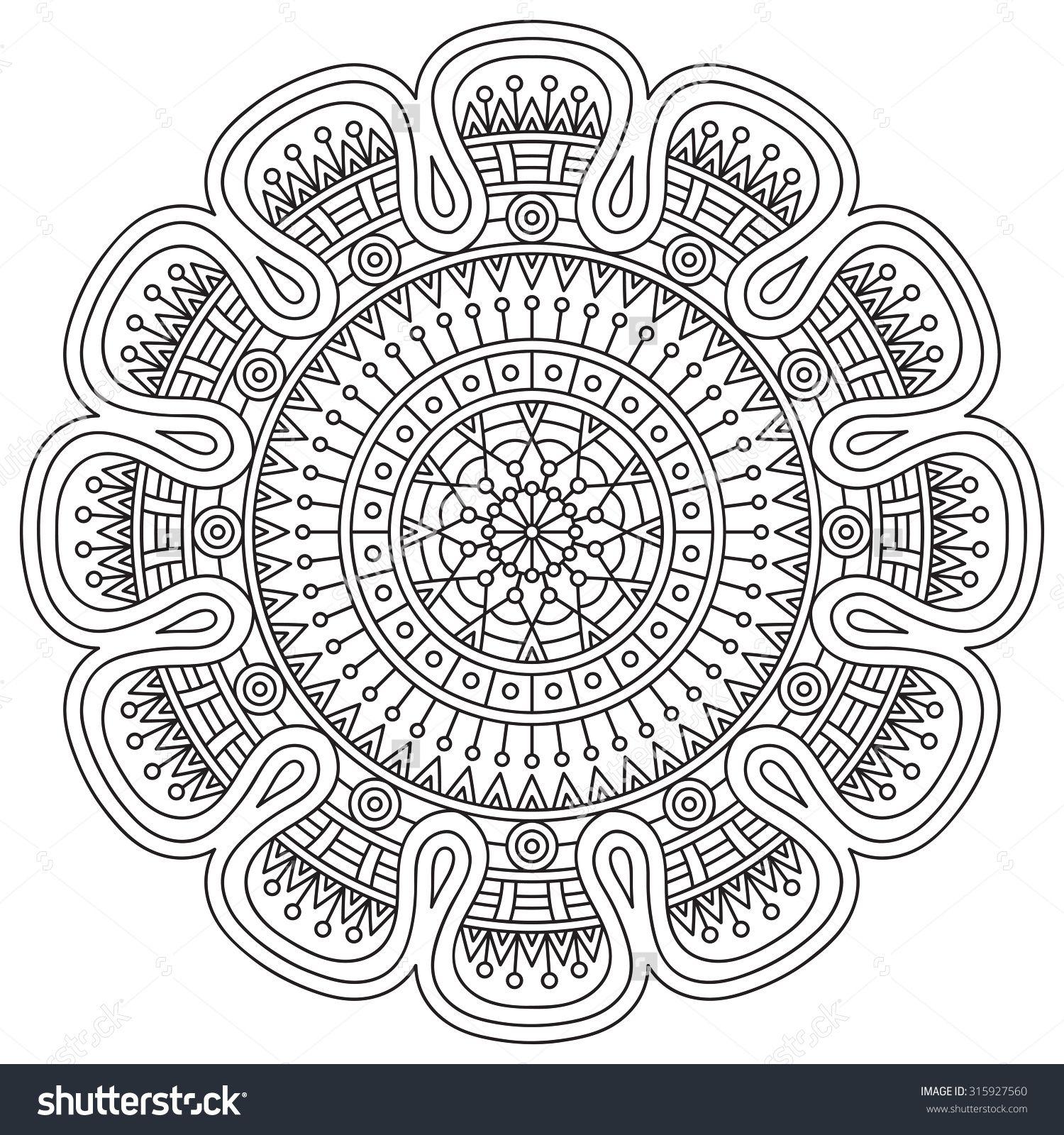 Mandala. Vintage decorative elements. Oriental pattern, vector ...