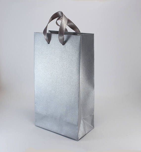 15 Small Silver Paper Gift Bags With Handles Wedding Welcome