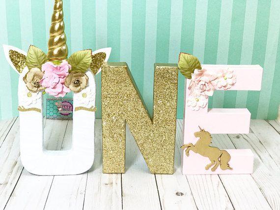 Unicorn Floral Letters © - Unicorn Letters - Unicorn first Birthday - Unicorn Decorations - Unicorn