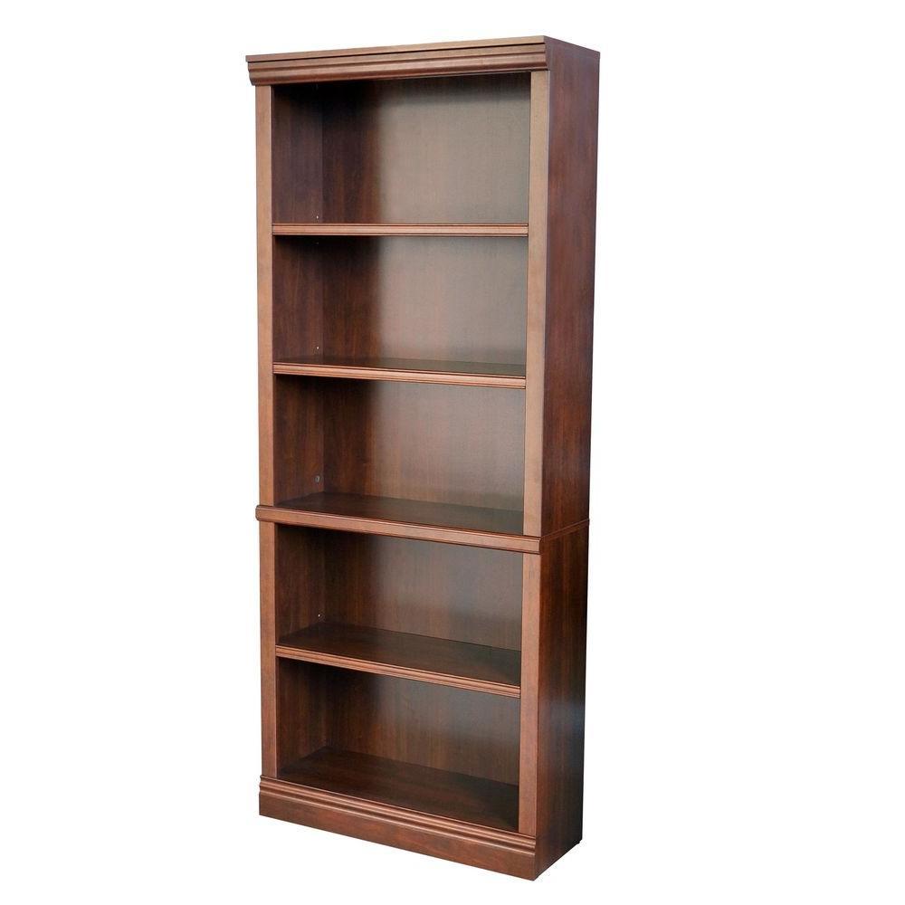 Hampton Bay Dark Brown Wood Open Bookcase Thd130419 1a Of Bookcase Decor Brown Bookcase Open Bookcase