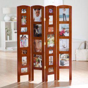Memories Photo Frame Room Divider Honey 4 Panel By Finley Home
