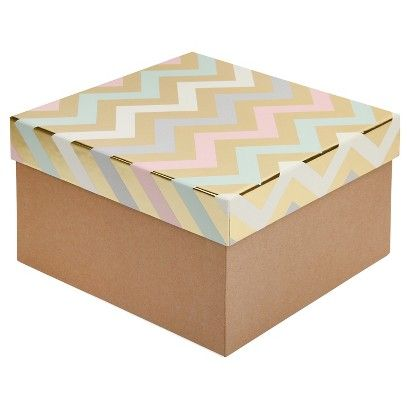 Paperchase Large Chevron Gift Box