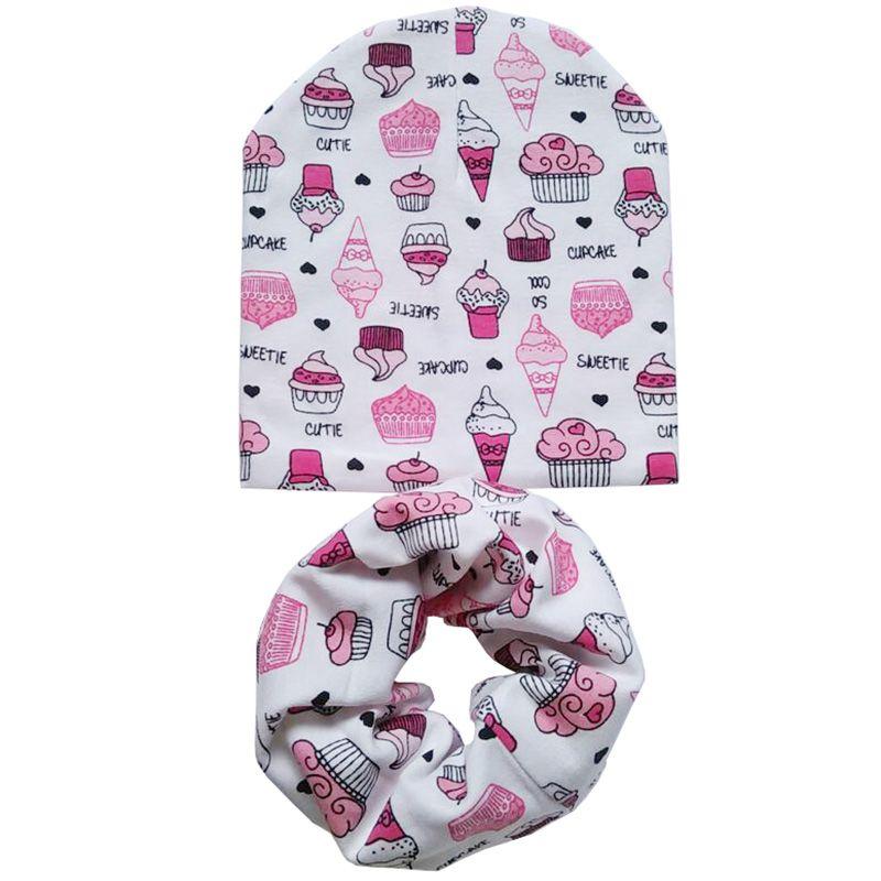 Baumwolle Baby Hut Set Eiscreme Liebe Druck Baumwolle Kappe Baby
