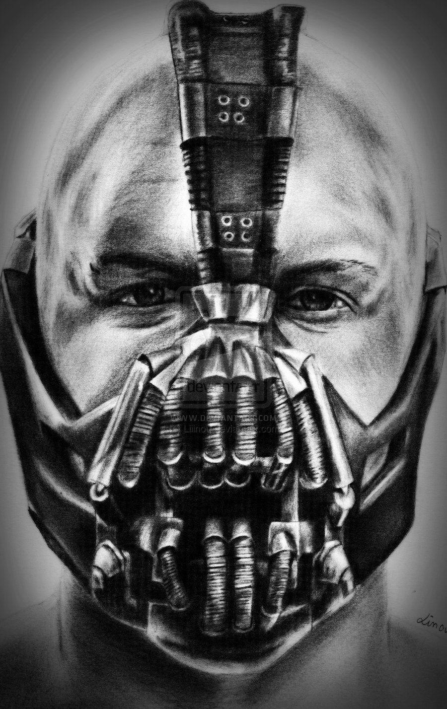 Bane By Liiinou On Deviantart Bane Batman Bane Mask Batman Tattoo