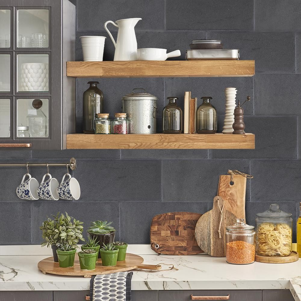 Jeff Lewis Kitchen Designs Jeff Lewis 6 In X 12 In Honed Basalt Field Wall Tile 2 Pieces
