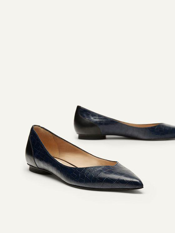 f429b28d BAILARINA PIEL PUNTA ROJA de MUJER - Zapatos - Ver todo de Massimo Dutti de  Otoño Invierno 2017 por 59.95. ¡Elegancia natural!