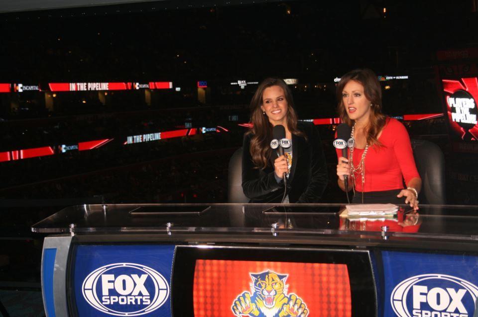 Jordana at Panthers Social Media Night 3.16.13 Fox