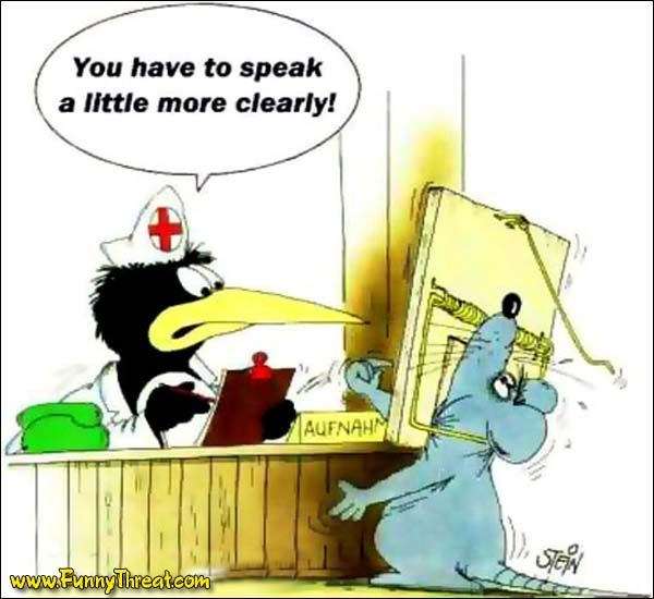 Hahaha! Since receptionists at medical institutions are really - medical receptionist