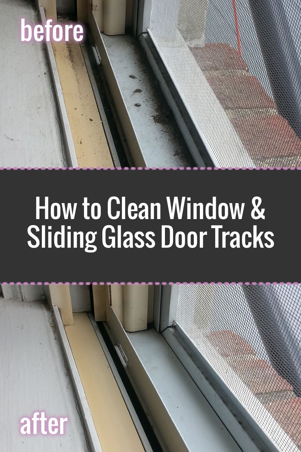 How to Clean Window & Sliding Glass Door Tracks Cleaning