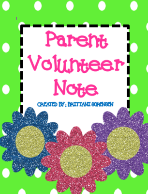 Parent Volunteer Sign Up Note from MadForKinder on TeachersNotebook.com -  (3 pages)  - Parent Volunteer Sign Up Note