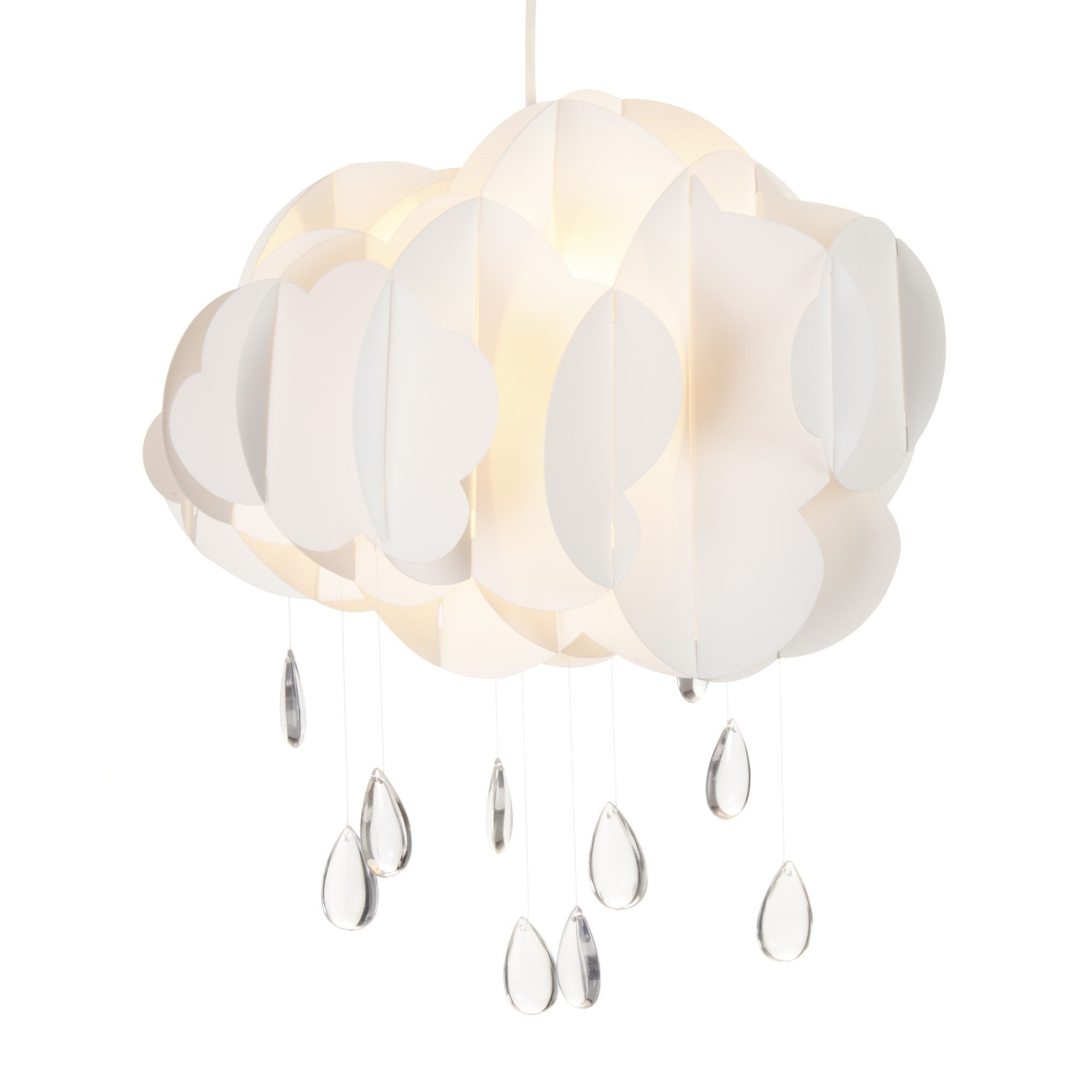 Suspension non lectrifi e en forme de nuage blanc cloud for Suspension luminaire blanc