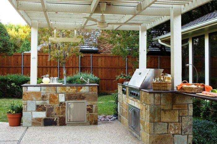 1001 id es d 39 am nagement d 39 une cuisine d 39 t ext rieure back yard outdoor kitchen design. Black Bedroom Furniture Sets. Home Design Ideas