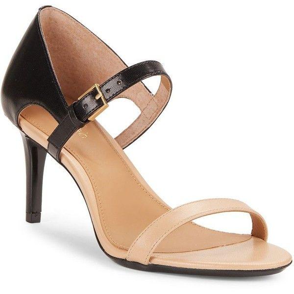 98e608d7fa98 Calvin Klein Luigina Colorblocked Leather Stiletto Sandals ( 109 ...