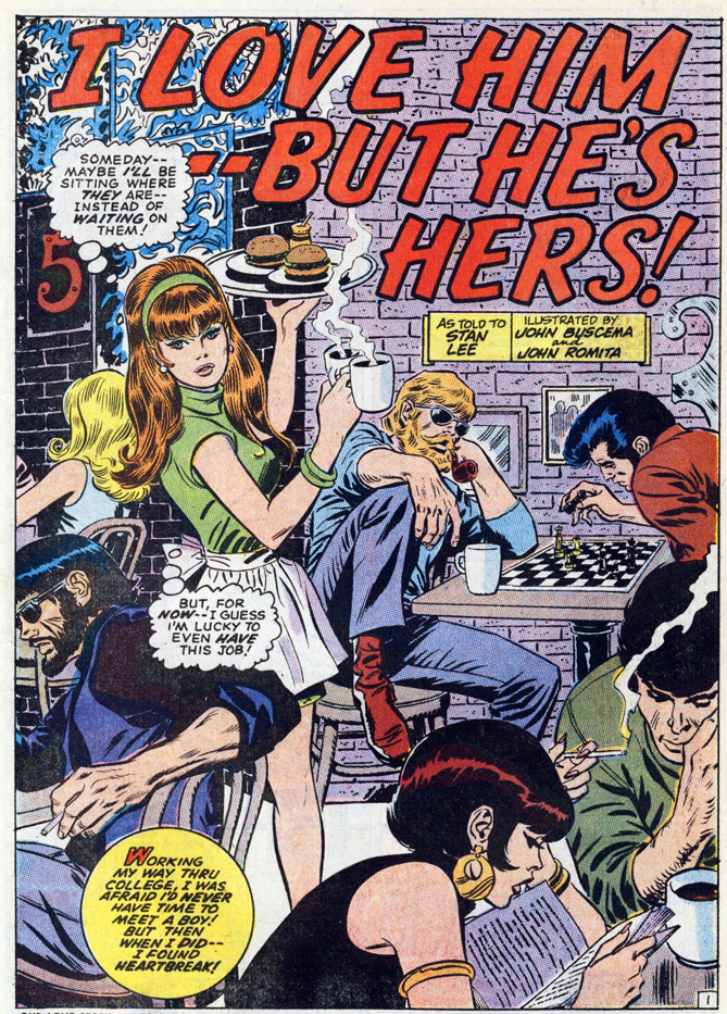 Our Love Story #2 Written by Stan Lee with art by John Buscema and John Romita