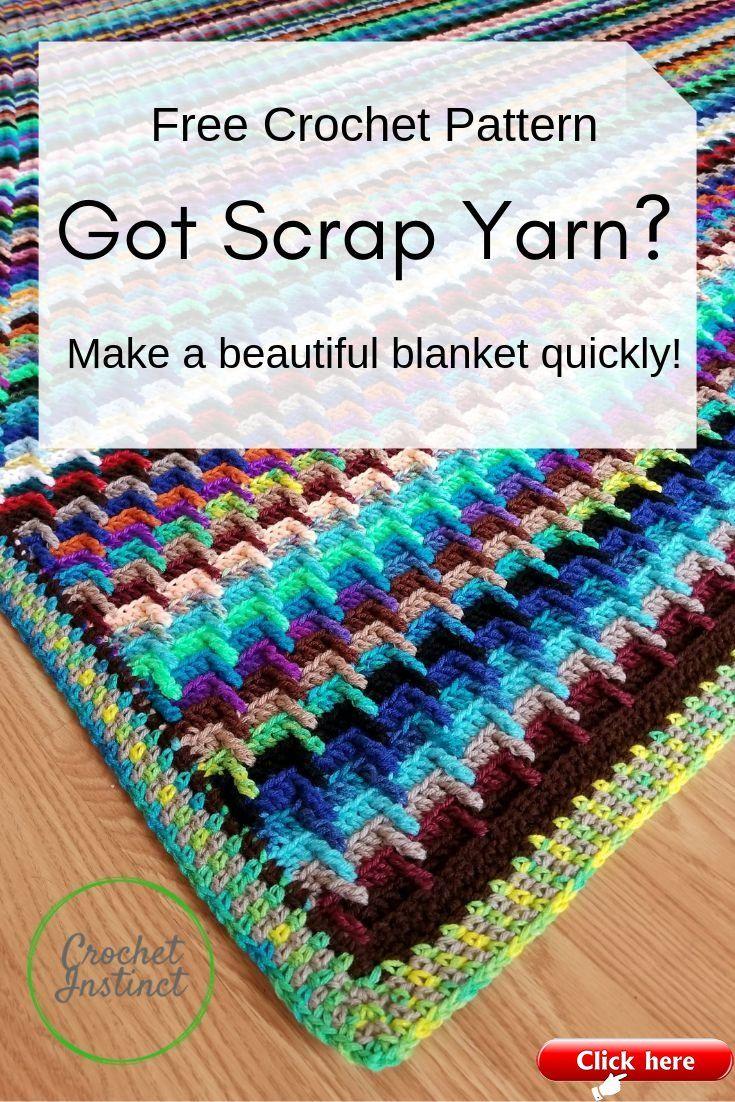 Bust that Stash of yarn into a Blanket! Free Croch
