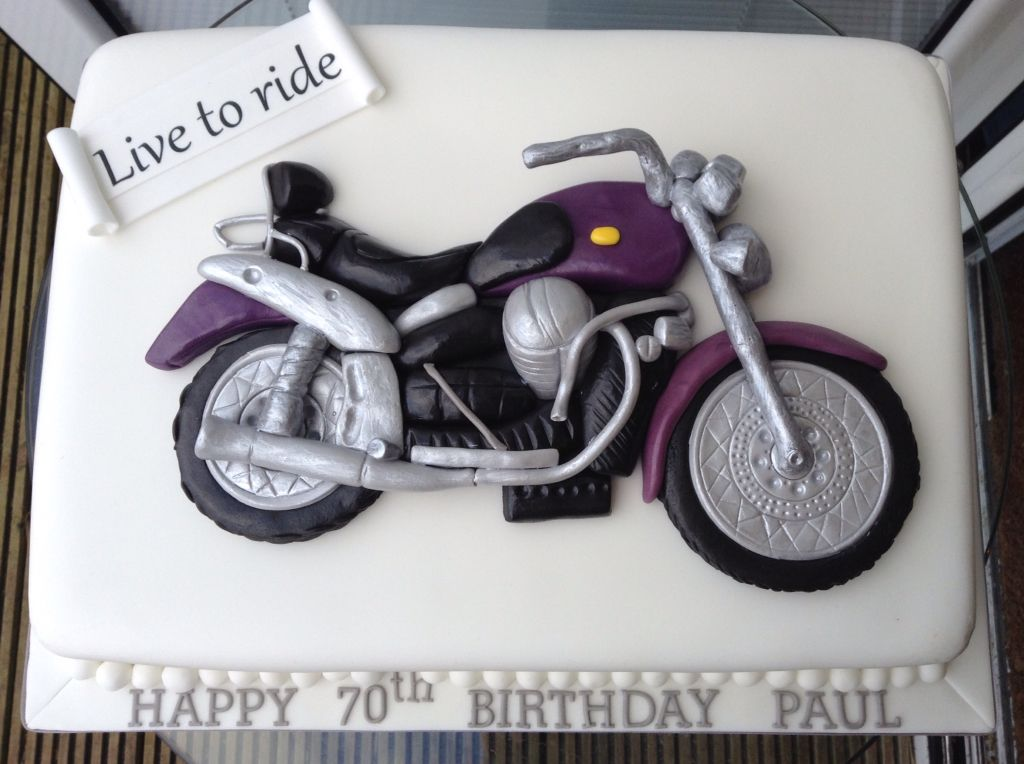 Motorbike themed cake Motorcycle Cakes Pinterest Cake